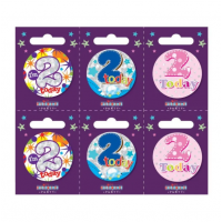Age 2 Small Badges (5.5cm)