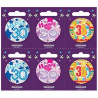 Age 30 Small Badges (5.5cm)