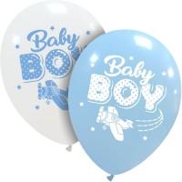 "Baby Boy Aeroplane 12"" Latex Balloons 25Ct"