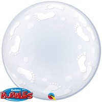 "Baby Footprints 24"" Deco Bubble"