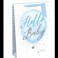 Hello Baby Boy Medium Bags 6ct