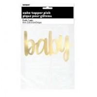 Gold Foil Script Cake Topper 1ct