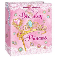 Pink Princess Medium Gift Bag 1ct