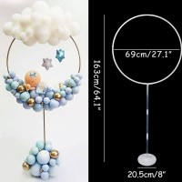 """Balloon Hoop Stand (includes one free bag of 5"""" latex balloons)"""