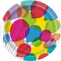"Balloons & Rainbow Birthday 9"" Plates 8ct"