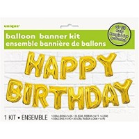 Balloon Banner Kit - Happy Birthday - (Air Fill Only)