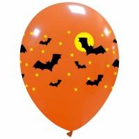 "Bats 2 Colour 12"" Latex Balloons 25Ct"
