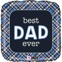 "Best Dad Ever Plaid 18"" Foil Balloon"