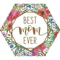 "Best Mom Ever Terrarium 18"" Foil Balloon"