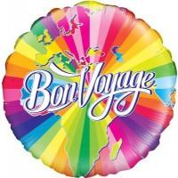 """Bon Voyage - 18"""" foil balloon"""