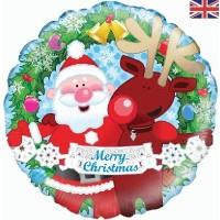 "Santa/Rudolph 18"" Foil Balloon"