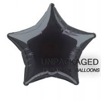 "Black - Star Shape - 20"" foil balloon (Pack of 12, Flat)"