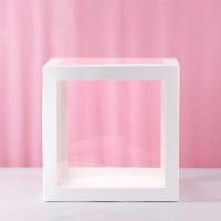 Transparent Balloon Boxes 30x30x30cm Pack of 4