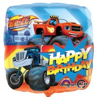 "Blaze and the Monster Truck- Happy Birthday - 18"" Foil Balloon"