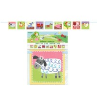Farm Party Block Banner 1ct