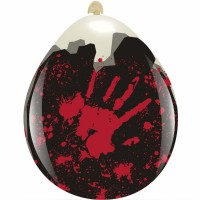 """Bloody Hands 18""""  Clear Stuffing Balloon 10ct"""