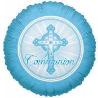 """Blue Communion 18"""" Foil Balloon"""