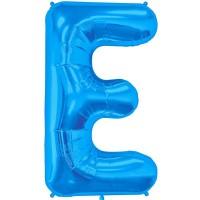 """Letter E-Blue - 16"""" Foil Balloon"""
