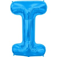 """Letter I-Blue - 16"""" Foil Balloon"""