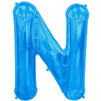 """Letter N-Blue - 16"""" Foil Balloon"""