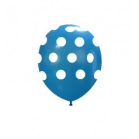 "Superior 5"" Blue Polka Dots Latex 100ct"
