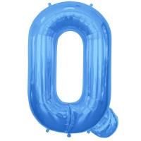 """Letter Q-Blue - 16"""" Foil Balloon"""