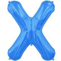 "Letter X-Blue - 16"" Foil Balloon"