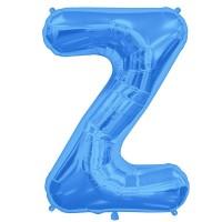 """Letter Z-Blue - 16"""" Foil Balloon"""
