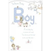 Sweet Baby Boy - Congratulations - Pack Of 12