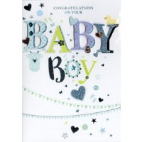 Baby Boy - Congratulations - Pack Of 12