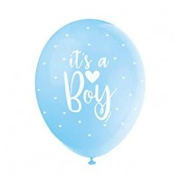 "Its A Boy Blue Assortment  5CT 12"" Helium Fill Latex Balloon"