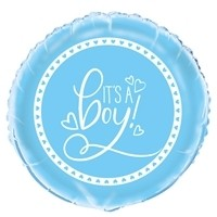 "Its A Boy Blue x5 18"" Foil Balloons"