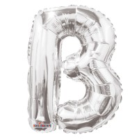 Silver Letter Balloon - B - (14inch)
