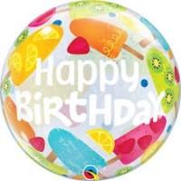 """Happy Birthday Ice Cream 22"""" bubble"""
