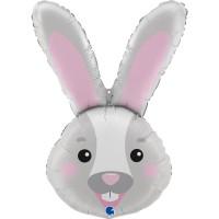 """Bunny Head 37"""" Foil Balloon"""
