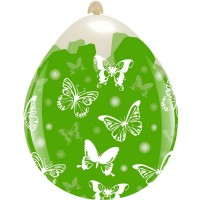 "Superior Big Butterflies 18""  Clear Stuffing Balloon 10ct"