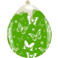 """Butterflies 18""""  Clear Stuffing Balloon 10ct"""