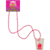Shot Glass Willy W/90cm Bead Necklace