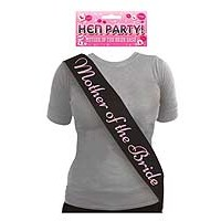 Sash Mother Of The Bride Black with Pink Text