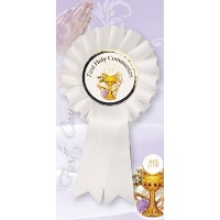 Holy Communion Rosette with Chalice Picture - Pack Of 6