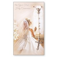 Communion Card and Rosary Set - Girl Pack Of 6