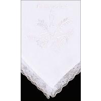 White Communion Handkerchief - Pack of 6