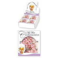 Communion Rosary Pink 1Ct