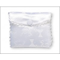 Communion Rosary Purse - White with Silk Pack of 12