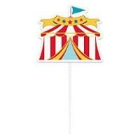 Circus Carnival Circus Tent Cake Topper 1ct