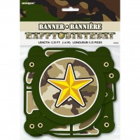 Happy Birthday Jointed Banner (1.6m) Military Camo