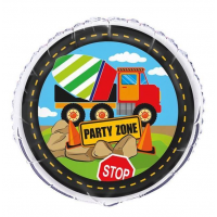 "Construction ""Party Zone"" 18"" Foil Balloon"