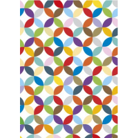 Multicoloured Geometric Sheet Wrap H:69 x W49 cm