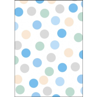 Blue Polka Dot Sheet Wrap H:69 x W49 cm