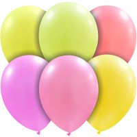 "Superior Neon 10"" Assorted Colours Latex 50CT"